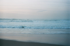 (annadosenes) Tags: ocean travel blue winter sunset sea film beach analog 35mm landscape photography coast seaside sand surf waves country january silhouettes calm minimal atlantic adventure journey surfers basque donostia zenit11