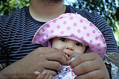 Leilani (CTIE PRIS) Tags: pink food baby sun cute beautiful nikon dad disneyland father daughter disney babygirl desaturate disneybaby nakedcircus