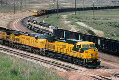 Busy Converse Junction (Moffat Road) Tags: up bn unionpacific wyoming ge wy burlingtonnorthern emd coaltrain cnw chicagoandnorthwestern sd70mac ac4400cw powderriverbasin grinstein antelopemine conversejunction orinline