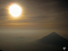 Waking up on the top of a high mountain, with the sun and the morning mist (rpphotos) Tags: sunrise volcano cloudscape