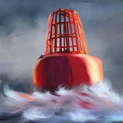 Buoy (Pat McDonald) Tags: sea storm waves ship digitalart sailor artrage royalnavy merchantnavy roughseas heavyweather pixabay