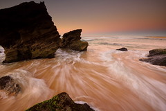 Redhead Flow (Paul Hollins) Tags: ocean seascape sunrise rocks australia redhead d750 newsouthwales aus watermovement nikon1635mmf4 nikond750