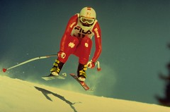 Sylvia Eder in Crans Montana, Switzerland. (travelnotes) Tags: woman mountain sports switzerland skier austrian sylviaeder