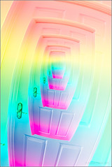 Psychedelic Door (mikeyp2000) Tags: door colors spiral rainbow colorful colours colourful psychedelic droste
