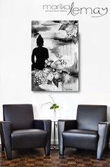 Bouddha n/b (Marika Lemay) Tags: new flowers white house plant black orchid home leather wall architecture modern table design living hall wooden office chair realestate flat bright furniture contemporary interior space empty room seat lounge indoor nobody surface clean couch pot sofa blank flowerpot copyspace minimalism armchair decor residential potted hardwood stylish houseplants marquetry luxurious