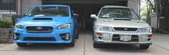 IMG_1073 (86Reverend) Tags: blue 2000 garage 25 subaru hyper 16 impreza wrx sti rs coupe 00 25rs 2016 serieshyperblue