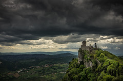 """""""Good, better, best. Never let it rest. 'Til your good is better and your better is best."""" (patiigraphy) Tags: old vacation italy mountains building castle nature clouds dark landscape outside rocks sanmarino day view pentax outdoor rainy fortress patii montetitano guaitafortress pentaxk5 patiigraphy"""
