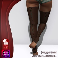 Flowerage Hunt GIFT - Floral Romance Stockings (~Olgita Ruby~) Tags: stockings free tights gift present gardenia hunt houseofruby