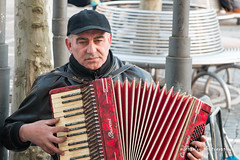 Street accordion player (Michaelou Photography) Tags: street photography frankfurt accordion player citycenter