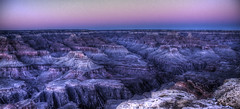 Paysage bleu. (CloudP) Tags: light arizona usa sun america dark landscape soleil lumire grand canyon formation sombre rise hdr levant geological amrique tatsunis gologie payasage