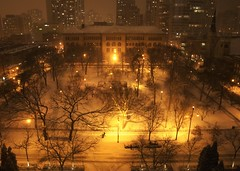 Washington Square Park (Brule Laker) Tags: snow chicago night goldcoast nearnorthside