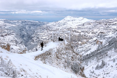 on the right path. (jrseikaly) Tags: lebanon cliff snow jack photography high dynamic snowy path right valley range arz hdr cedars kadisha seikaly jrseikaly
