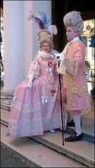 Carnevale a Venezia (collage42 Pia M.-Vittoria S.) Tags: pink costumes rosa wigs carnevale venezia maschere parrucche carnevaledivenezia