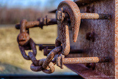 Rusty Hook and Chain (Barry Cruver) Tags: history rural train buildings rust village pennsylvania decay 19thcentury historic mining chain pa forgotten traincar hook coal miners companytown weatherly eckley eckleyminersvilliage
