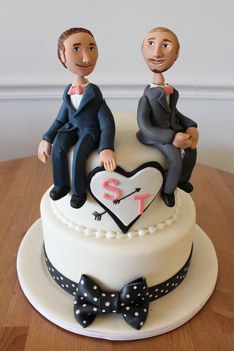 Bow Tie Wedding Grooms Wedding Cake