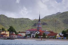 Arriving in Anse Chadiere (DJ Greer) Tags: beach church town village martinique shoreline carribean steeple explore shore anse chadiere