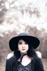 Ciara (Dead L) Tags: ireland dublin beautiful beauty hat model colours gothic ciara spookycosplay