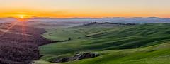 sunset (Federico Sasson) Tags: travel sunset sun clouds canon eos colorful tramonto day awesome hills tuscany crete tramonti toscana colline cretesenesi travelphoto