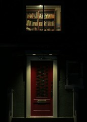 A reader's house (Ruth and Dave) Tags: door light house home window night vancouver mountpleasant books bookshelf through dwwg