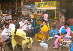Tea Time (A Kamal Khan) Tags: road street travel people woman india shop kids train asia tour tea railway vendor pushkar rajasthan ajmer abkamalkhan akamalkhan