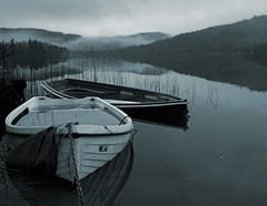 Sub Aqua (kenny barker) Tags: mist boats scotland kinlochard