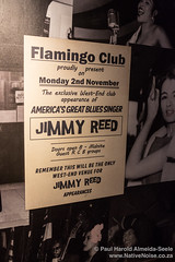 Posters on the walls of the old Flamingo Club on Wardour Street, London
