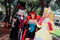 Undertaker as the Mad Hatter, Queen of Hearts & Lizzy the mouse (btsephoto) Tags: portrait black anime lady lens hearts mouse hotel costume texas fuji elizabeth play cosplay fort iii ant flash north hilton queen ciel r convention butler fujifilm worth 1855mm mad lm wonderland fujinon lizzy cordelia hatter ethel undertaker  xf ois midford xt1 f284 yongnuo  yn560