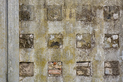 'Street Gallery' (Canadapt) Tags: brick portugal wall concrete moss pattern squares decay erosion blocks dozen 12 loures canadapt
