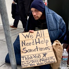 in dire need (vhines200) Tags: sanfrancisco homeless 88 panhandler 2016
