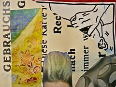 DADA Gebrauchsidee (web.werkraum) Tags: detail art collage germany deutschland typography europa artist expression ks international dada lettering documentation typo typographie ansichten decollage jetzt 2016 versalien dokumentation collagedetail wegzeichen detailaufnahme dasdasein coexistent berlinerkünstlerin tagesnotiz webwerkraum karinsakrowski meinberlineratelierab2008beiflickr collageconcept dadagebrauchsanweisung linksrumdrehen