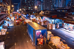 Yau Ma Tei Wholesale Fruit Market, Hong Kong (mikemikecat) Tags: street red house building fruit architecture ma hongkong colorful pattern market sony cargo nostalgia tei housing worker   stacked wholesale yau cyber chung yaumatei   waterlooroad  a7r      mikemikecat