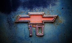 devil in the detail (jtr27) Tags: old classic chevrolet truck emblem antique sony newengland sigma chevy chrome badge dna junkyard 60mm alpha f28 ilc csc dn nex ilce mirrorless dnart emount nex6 jtr27 sigmaart dsc06426e