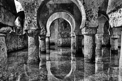 Aljibe (garciajl3) Tags: blackandwhite espaa blancoynegro water architecture reflections arquitectura agua arabe arabian reflejos caceres blackanwhite aljibe