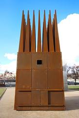 IMG_7146 (trevor.patt) Tags: architecture prague installation cz masque janpalach corten figural hejduk