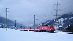 MGB HGe4/4 loco no.1_Disentis/Muster_150216_01 (DS 90008) Tags: mountains nature electric skyline clouds train 1 track engineering railway rails locomotive pylons mgb lok carriages electrictrain andermatt rollingstock disentis railtransport electrictraction electricloco metregauge hge44