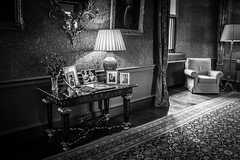 "Dunster Castle in Black and white • <a style=""font-size:0.8em;"" href=""http://www.flickr.com/photos/32236014@N07/25285801209/"" target=""_blank"">View on Flickr</a>"