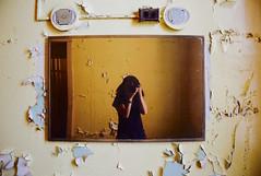 Self-Portrait (Sarah Hina) Tags: selfportrait abandoned mirror decay chippedpaint ohiouniversity athensohio leadpaint theridges statementalhospital athenslunaticasylum