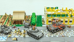Normandy breakout:  Overview (SEdmison) Tags: france lego wwii battle worldwarii convention normandy legoconvention brickscascade brickscascade2016
