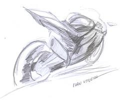 motocicleta a lpiz (ivanutrera) Tags: pencil sketch drawing moto motorcycle draw dibujo motocicleta lpiz dibujoalpiz