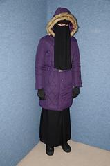 Purple coat (Buses,Trains and Fetish) Tags: hot warm coat hijab sweat fleece niqab rainwear anorak slave burka chador