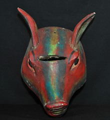 Guerrero Mexican Animal Mask (Teyacapan) Tags: animals mexico madera folkart crafts mexican masks guerrero mascaras nahua riobalsas