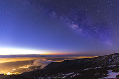 IMG_4229 (cd photography2015) Tags: blue mountains night del clouds sunrise canon stars eos nacht kanaren wolken berge hour tenerife mm teide canaries teneriffa sonnenaufgang f28 ef sterne canadas milkyway 6d citylight 1635 gimar stunde milchstrase