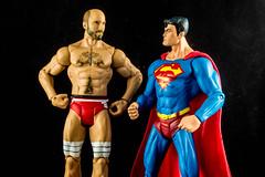 Swiss Superman, Eh? (misterperturbed) Tags: superman dccomics wrestlers mattel wwe justiceleague justiceleagueofamerica jla cesaro dcdirect