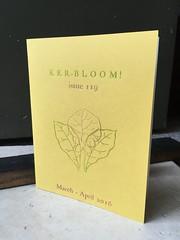 Ker-bloom! issue 119 (artnoose) Tags: zine flower yellow berkeley letterpress 119 kerbloom