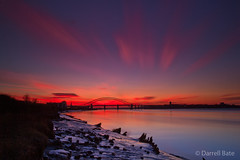 Mersey in the afterlight..... (daz bate) Tags: longexposure canon runcorn widnes liverppol 5dmk2