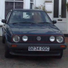 (uk_senator) Tags: blue vw golf mk2 1989