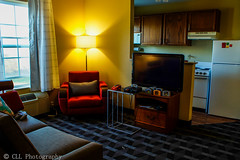 Hotel Room Mario Kart (coreylucasphoto) Tags: playing game hotel video room nintendo mario games videogames kart around mariokart n64