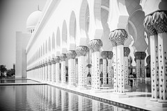 Mosque 13 (monochromia - jeremy chivers) Tags: march mosque abudhabi 2016 sheikhzayedmosque
