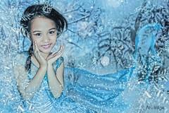 Little Elsa (Frozen) (ArtNinjaph) Tags: snowflake blue winter snow art ice girl photomanipulation photoshop photography frozen artwork princess ninja disney queen gown elsa photocomposition aien artninja artninjaph