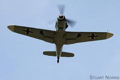 Hispano HA-1112 / Bf-109G-4 Red 7 (stu norris) Tags: aviation airshow hispano warbird ffd messerschmitt fairford riat red7 buchon ha1112 dfwme egva bf109g4 riat2015